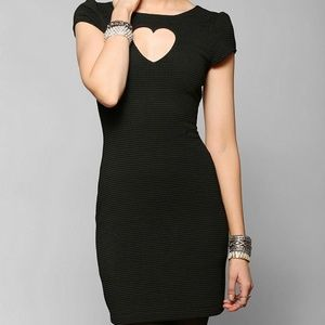 Urban Outfitters Cut Out Heart Bodycon Dress